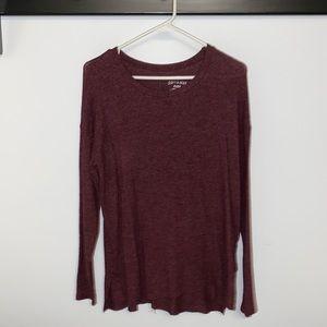 American Eagle SOFT&SEXY PLUSH Sweater Maroon